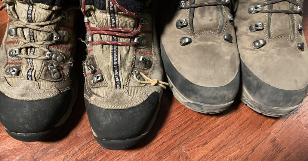 winter boot lacing technique