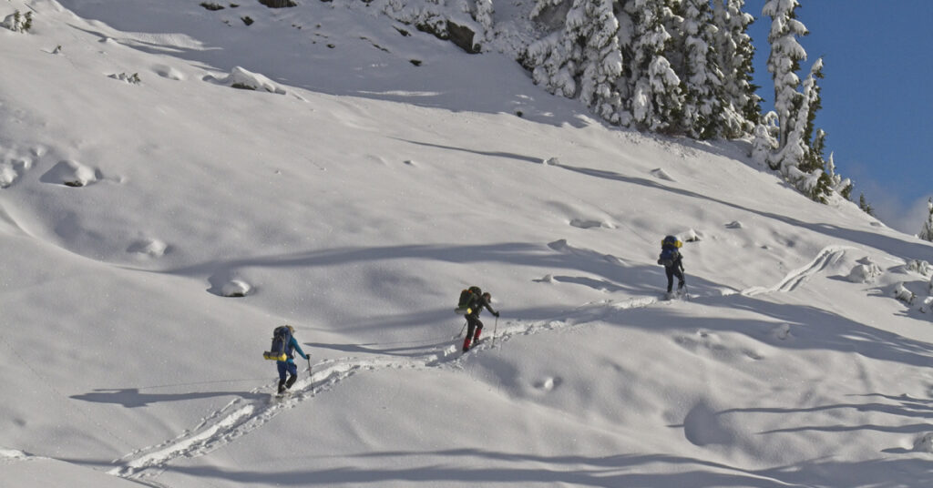 winter snowshoeing in the cascade mountains
