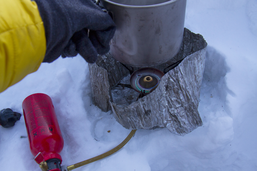 liquid fuel stove used for melting snow