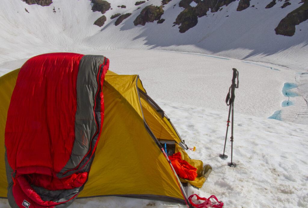 drying a winter sleeping bag