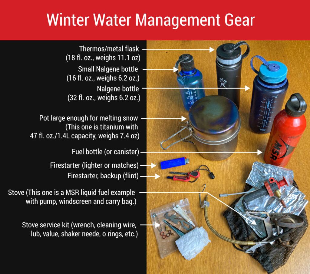 winter water management gear