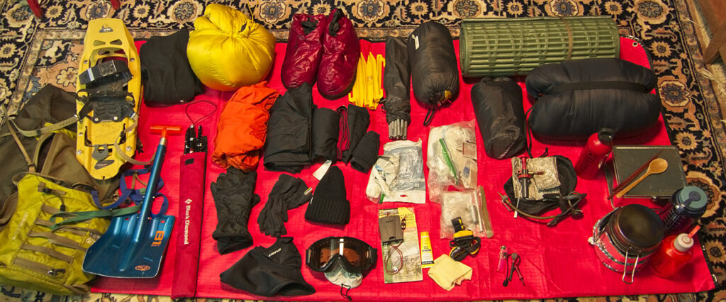 backpacking gear for winter trip