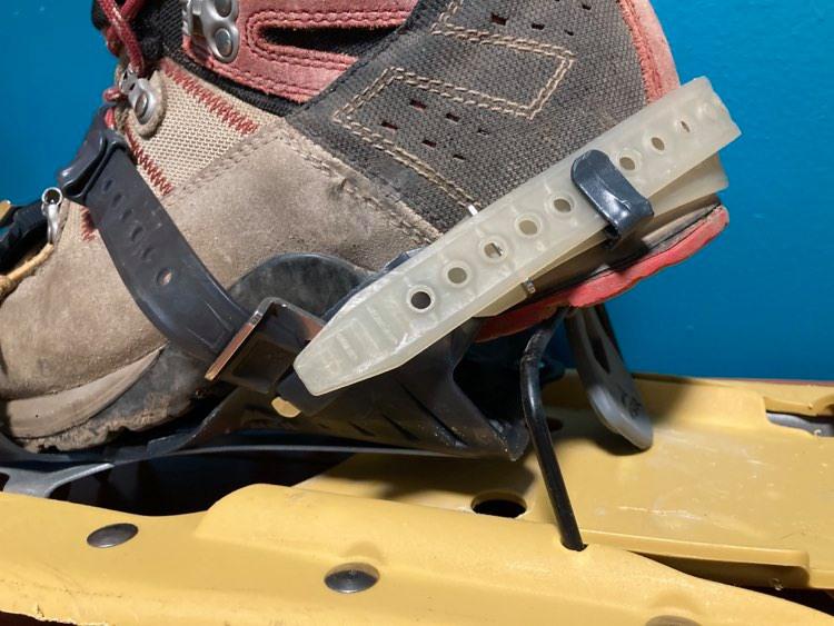 snow shoe heel lift
