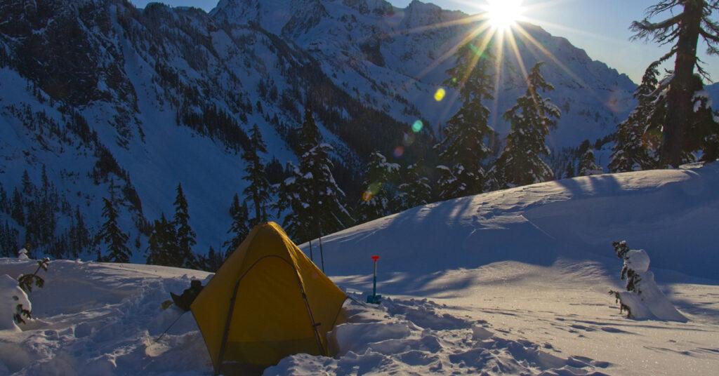 sunrise at snowcamp
