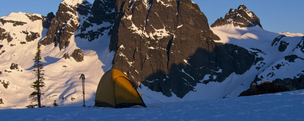 4-season tent in alpine terrain