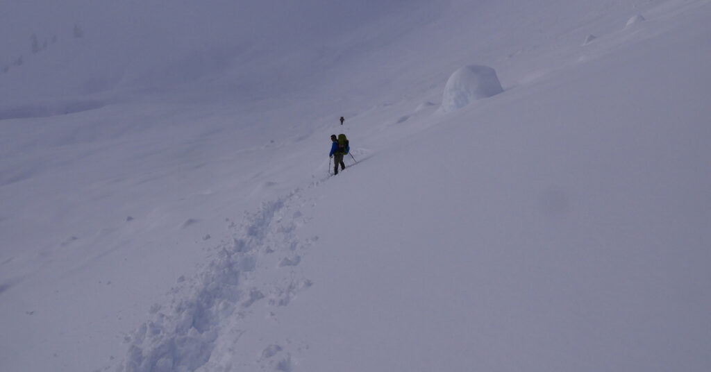 winter backpacking in avalanche terrain