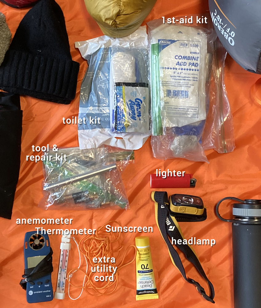 ten essentials for winter backpacking