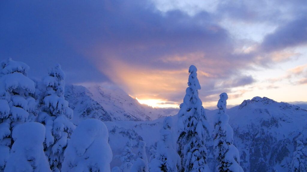 sunrise in the Cascade Mountains
